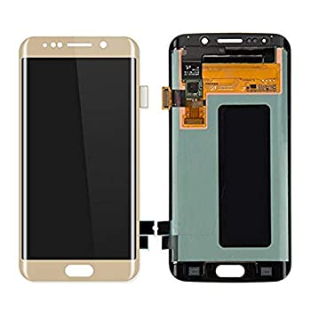 for Samsung Galaxy S6 Edge G925S G925V G925i G925F,5.1 Inch Phone Repair Replacement Display Touch Screen Digitizer Assembly  Gold 5.1 in