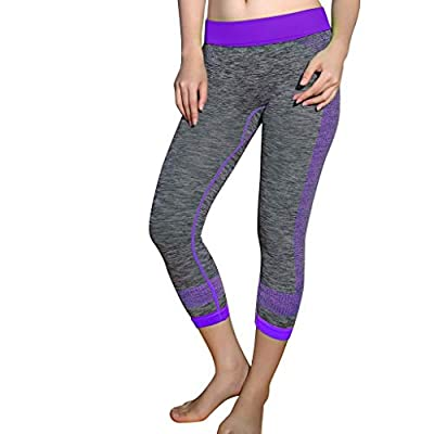 RAINED-Women Yoga Leggings,Tummy Control Workout Active Fitness Pants Slimming Capris Body Shaper Yoga Pants