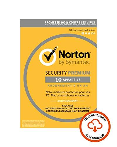 Norton Security Premium 2019   10 Appareils   1 an   PC/Mac/iOS/Android   Téléchargement