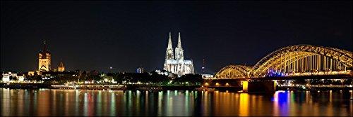 Pro-Art-Bilderpalette g1767e Tableau Mural Impression giclée Motif Cologne la Nuit 150 x 48 cm, Multicolore, 120 x 40 cm