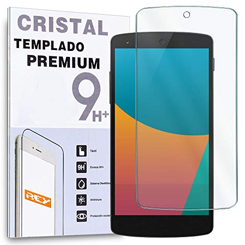 REY Protector de Pantalla para Google Nexus 5 D820 D821 Cristal Vidrio...