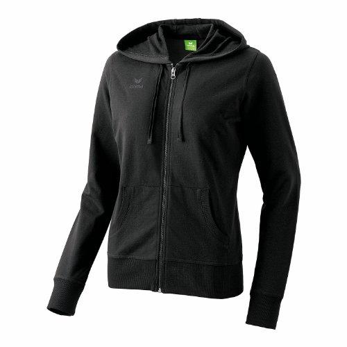 erima Damen , Kapuzensweatjacke , Gr. 46 (Herstellergröße: 48), schwarz