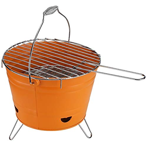 marion10020 Grilleimer Grill-Eimer Holzkohlegrill Eimergrill Grill BBQ Partygrill, mit...