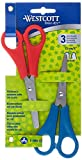 Westcott E-2069 Set 5-Inch Set Kids Scissor with cm-Scale/Blunt/Pointed Tip (Pack of 2)