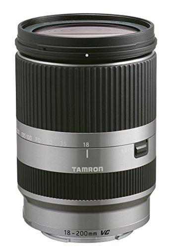 Tamron 18-200 mm F/3.5-6.3 Di III VC Objektiv für Canon EOS-M Bajonettanschluss silber