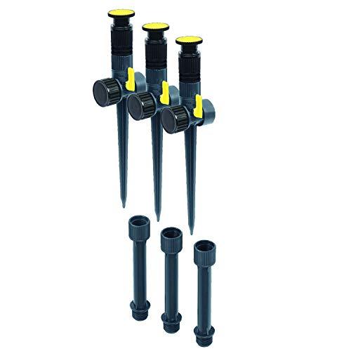 Melnor 65083-AMZ Multi-Adjustable Sprinkler and Extensions, 6 pc, Sprinkler & Riser Set