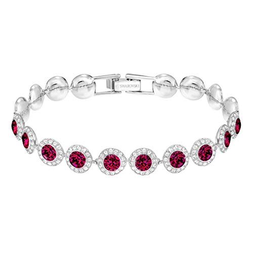Swarovski Women's Angelic Bracelet, Brilliant White and Red Crystals with Rhodium Plating, from the Swarovski Angelic Collection