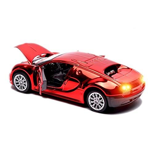 Coche de control remoto, vehículos de control remoto for niños for adultos niños de madera y mustang for niños de metal METAL CAR MODELO 1:32 Bugattii Veyron Simulación Aleación de aleación Joyería de