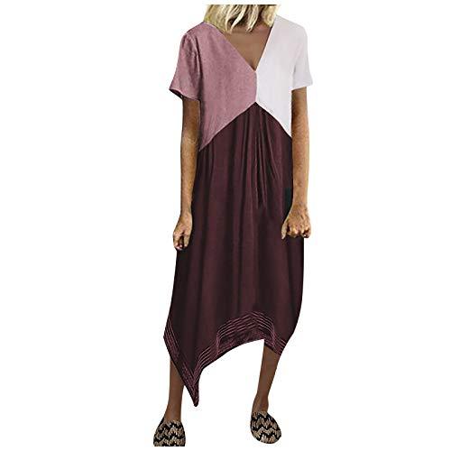 Dasongff Women's Fashion Cool Matching Print Casual Beach Elegant A-Line Dress