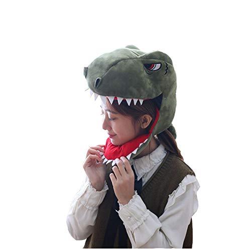 Elwow - Maschera da ragazzo, in peluche con dinosauro e drago, ideale per feste di Halloween Colore 1 Taglia Unica