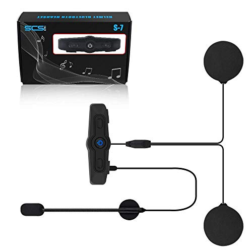 %55 OFF! Helmet Bluetooth Headset Motorcycle Intercom- SCS ETC S-7 (2019) Helmet Intercom Motorcycle...