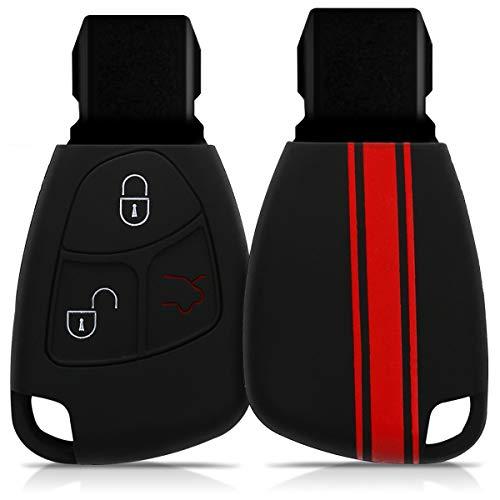 kwmobile Funda Compatible con Mercedes Benz Llave de Coche de 2-3 Botones - Carcasa Protectora Suave de Silicona - Rally