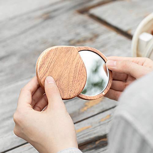 化粧鏡女性コンパクトミラー手鏡携帯可愛いメイクミラー化粧用丸型可愛いスライド式镜子