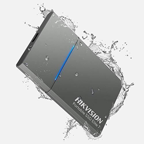 HIKVISION Elite 7 da 1 TB SSD Esterno Portatile con Hi Backup e Hi Security-USB 3.2 velocità di lettura fino a 1060 MB/s Unità a Stato Solido Esterno,ssd esterni, impermeabile (Grigio)