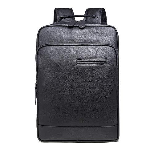 Heren Casual tas PU Rugzak Herenrugzak Laptoptas voor heren, 44×30×16cm, Zwart