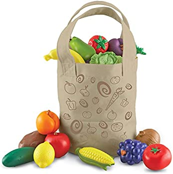 17-Pieces Learning Resources Fresh Picked Fruit And Veggie Tote