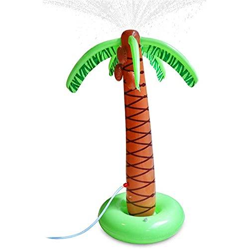 Furado Aufblasbare Palme Hinterhof Sprinkler Spielzeug,Aufblasbare Palmen Pool Float Hawaiian,Spielzeug Aufblasbare,Sprühwasser Pool Spielzeug Für Kind,Partyzubehör Aufblasbarer,Beachparty,Mottoparty