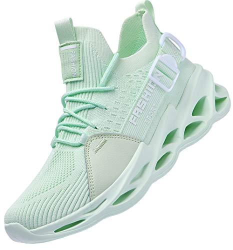 Aardimi - Zapatillas de deporte para hombre, transpirables, antideslizantes, para gimnasio, fitness o correr por la calle, color Verde, talla 42 EU