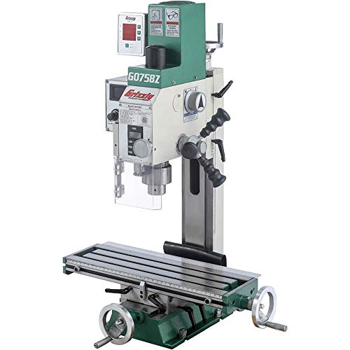 10. Grizzly G0758Z 634; x 2034; 3/4 HP Mill/Drill with DRO