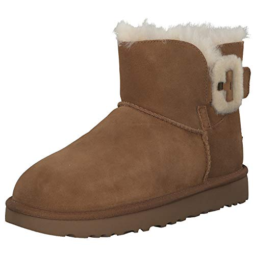 UGG - Stivali Mini Bailey Fluff Buckle - Chestnut, Taglia:38 EU