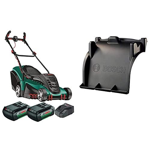 Bosch Akku Rasenmäher Rotak 430 LI (2 Akku, 36 Volt System, im Karton) + MultiMulch-Rotak 40/43-Modelle