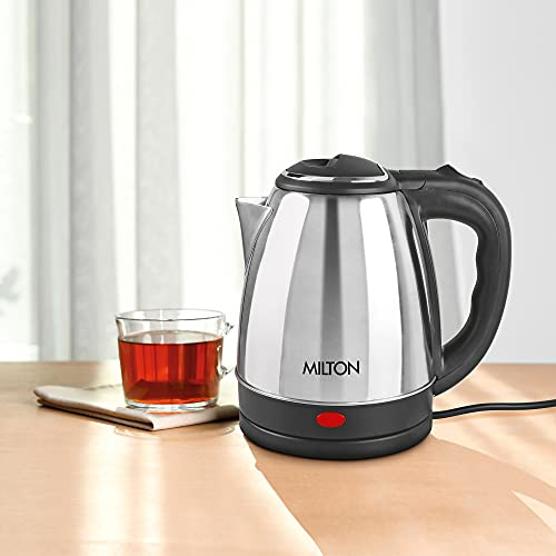 Milton Insta Electric 1200 Stainless Steel Kettle, 1.2 Litres, Silver, 1 Piece