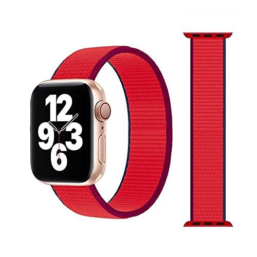 gujiu Correa Transpirable de Nylon de Bucle Solitario Trenzado para Banda de Reloj de Apple 44mm 40 mm 38mm 42mm Pulsera elástica para iWatch Series 6 SE 5 4 3 (07 Crema, para 42mm o 44mm)