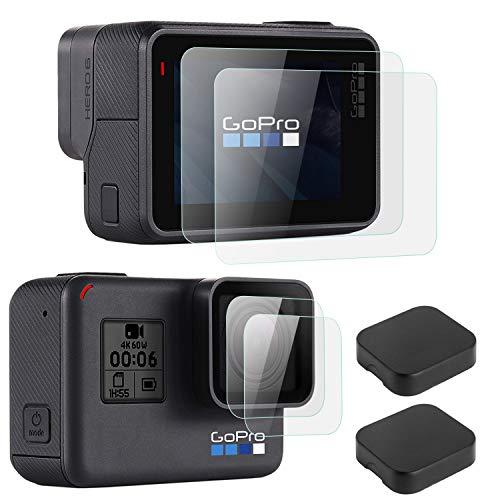 OOTSR (6 Piezas) Protector de Pantalla Compatible para GoPro héroe 7 (Sólo...