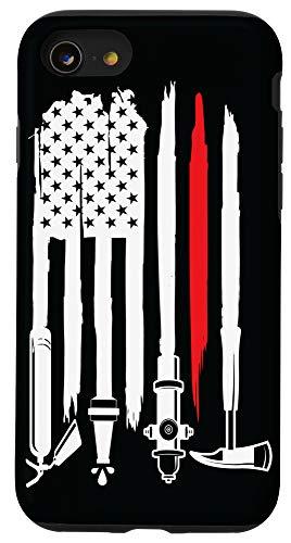 iPhone SE (2020) / 7 / 8 firefighter, firefighter flag, fireman, fire department Case
