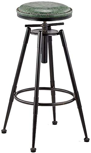 Vintage Swivel Bar Stools Faux Leather Breakfast Kitchen Pub Barstools Counter Height Metal Stool for Bars, Bistro Patio Cafe Best Home Garden Chairs Indoor Outdoor Use