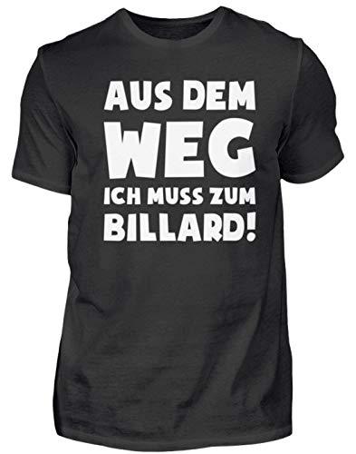 Snooker: Muss zum Billard! - Herren Shirt -XL-Schwarz