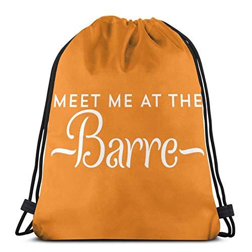XCNGG Bolsa de Gimnasia Bolsa con cordón Bolsa de Viaje Bolsa de Deporte Mochila Escolar MochilaDrawstring Bag Meet Me At The Barre Ballet Training Gymsack
