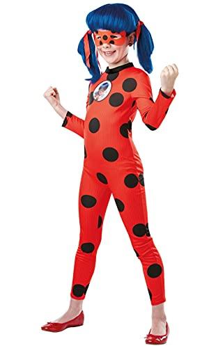 Rubies  Disfraz clsico oficial Ladybug Miraculous, nio, I-300778M, talla M 5-6 aos, color rojo