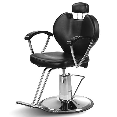 Artist Hand Hydraulic Reclining Barber Chair 20 Inch Width Hair Styling Chair Salon Chair Spa Equipment