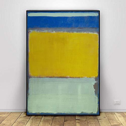 Mark Rothko lienzo abstracto pinturas al óleo carteles e impresiones lienzo cuadros artísticos de pared para sala de estar y dormitorio decoración del hogar (50x70 cm) sin marco