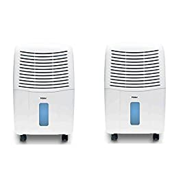 Haier Energy Star 50 Pint Electronic Dehumidifier System with Smart Dry (2 Pack) 3 Provides dehumidification for your room or office Humidistat lets you adjust the humidity in the air, and also offers automatic humidistat control Bucket full indicator to notify you when the bucket needs to be emptied