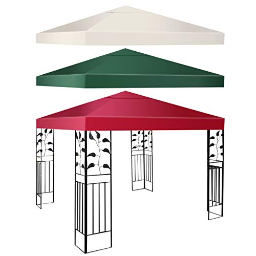 COSTWAY Pavilliondach Ersatzdach Pavillonplane Dachabzug (Beige)
