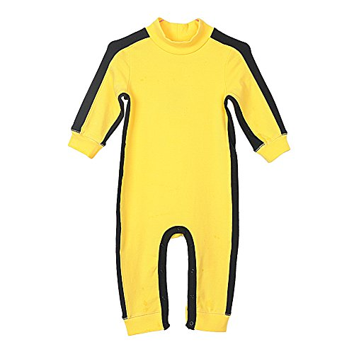 Fairy Baby Little Boy Girl Kid Cotton Outfit Sweatshirt Long Sleeve Shirt Solid Pullover (1T) Deep Yellow