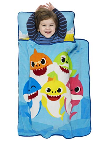 Baby Shark Toddler Nap Mat - Includes Pillow and Fleece...