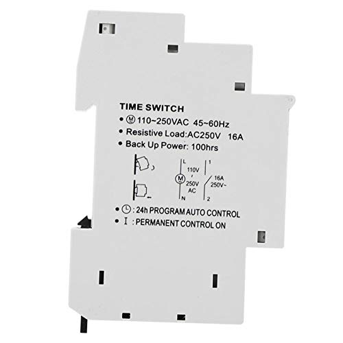 Funzionamento manuale Interruttore orario intelligente Interruttore orario 220V 1P Interruttore orario su binario TM610C Semplice per accessori industriali per illuminazione stradale
