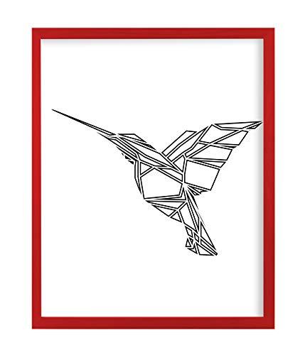 postergaleria Bilderrahmen | 30x40 | Rot | Holz | Plexiglas | 8 Farben | 5 Größen | Posterrahmen | Fotorahmen