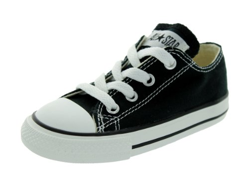 Converse unisex-child Chuck Taylor All Star Low Top Sneaker, black, 9 M US Toddler