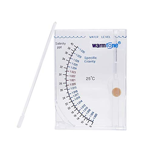 Boxtech Aquarium Marine Test Sea Saltwater Hydrometer Reef - Ocean Hydrometer Salinity Meter - for Fish Tank Water Salinity Specific Gravity Test