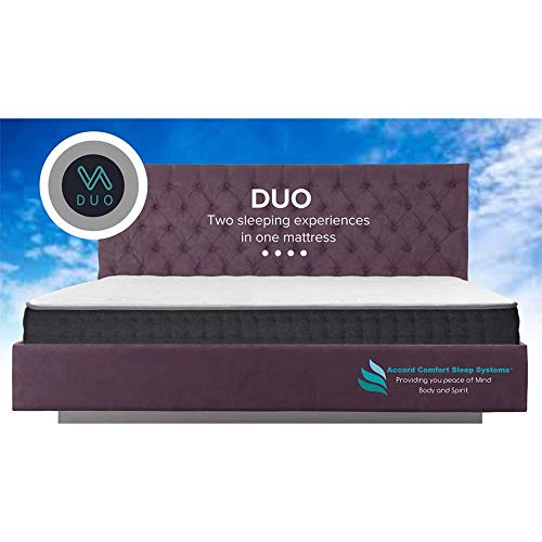Duo Double Sided Twin XL Mattress, Two Sleeping Experiences in One Mattress, Flippable with A Firm Side and Plush Side, Features Outlast Temperature Regulating Fabric On Both Sides