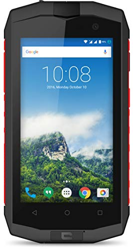 Crosscall Trekker-M1 Core Smartphone (4,5 Zoll - 16 GB internal Speicher - Dual Micro-SIM - Android) Schwarz/Rot