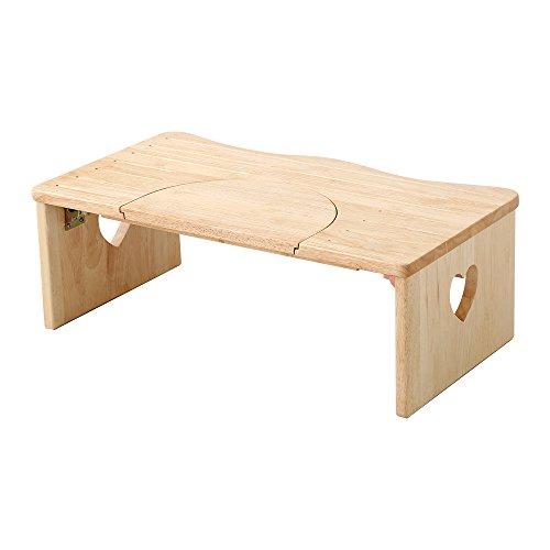 かわいい トイレ 子ども踏み台 ナチュラル(木製・折りたたみ式・29cm)ハート柄で子供や女の子に人気