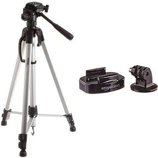 Amazon Basics Trépied ultraléger 152 cm avec sac inclus with Amazon Basics Fixations de caméra GoPro pour trépied