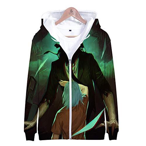 MULIZHE Kleurrijke bedrukte 3D Kerstmis hoodie lange mouwen tas dikker pullover heren en dames neutrale deco pullover A-0321 Adventure puzzel Sally Face