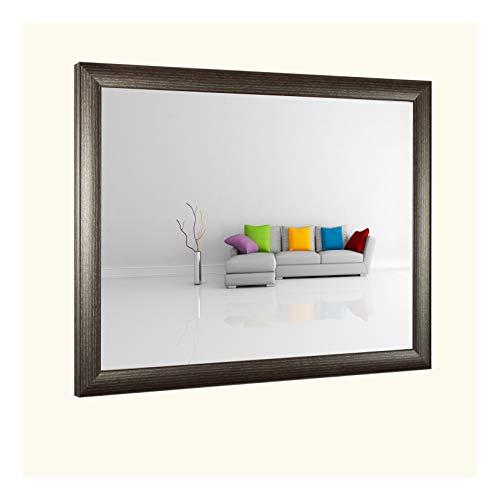 Olympia Deluxe MDF Bilderrahmen Posterrahmen 43x53 cm Farbwahl Hier Mokka Dunkelbraun gemasert 53x43 cm mit 1 mm klarem Kunstglas und weissem Hintergrund