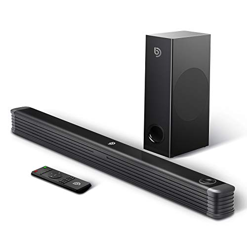 Bomaker Barre de Son 2.1 Canal avec Subwoofer sans Fil 150W Haut-Parleur, Barre de Son pour TV, Wireless Bluetooth 5.0 Soundbar Son Surround Home Cinéma